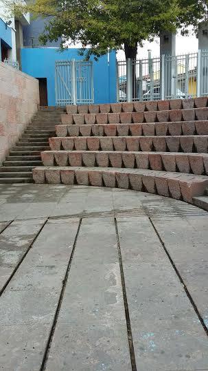 L'anfiteatro di fronte a LA CHASCONA dove nel 2009 debuttò EL FUNERAL DE NERUDA