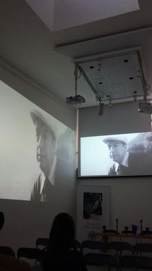 Sala proiezione della Fundacion Pablo Neruda che ospitava EL FUNERAL DE NERUDA