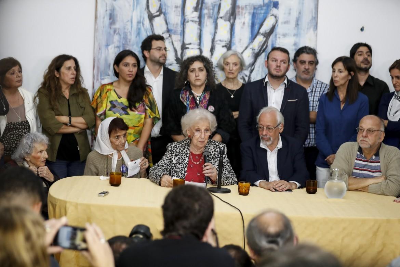 Conferenza stampa con Estela Carlotto - foto: La Presse