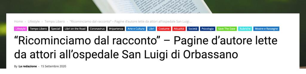 RICOMINCIAMO DAL RACCONTO orbassano