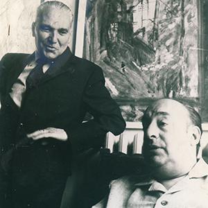 Alberto Tallone e Pablo Neruda